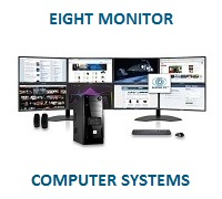 Eight Monitor Computer