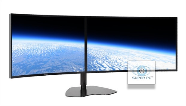 Super Pc Dual Monitor Array With Two Curved Syncmaster