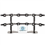 SUPER PC 6x2 Twelve LCD Multi-Monitor Stand | Supports up to 12 x 22 inch Displays
