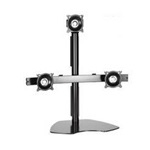 Chief Triple LCD Multi-Monitor Stand | Supports up to 24 inch displays