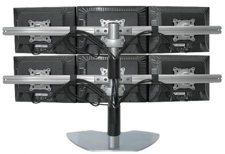 Super Pc Six Lcd Multiple Monitor Stand Support Up To