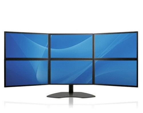 Super Pc Six Lcd Multiple Monitor Display