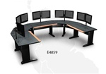 Horseshoe Encompass-2 Workstation (Mountings for 10 Monitors) E4859