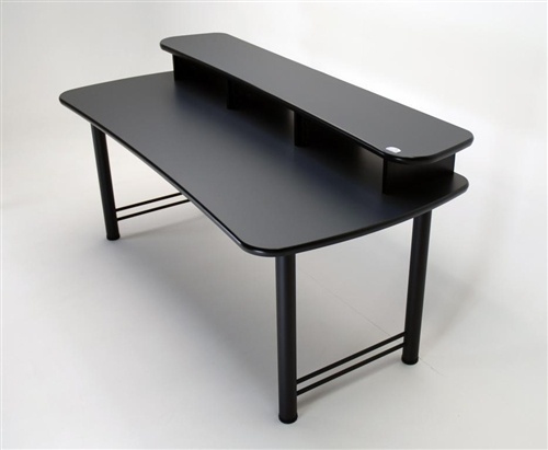 dual surface multiple monitor computer desk. Black Bedroom Furniture Sets. Home Design Ideas