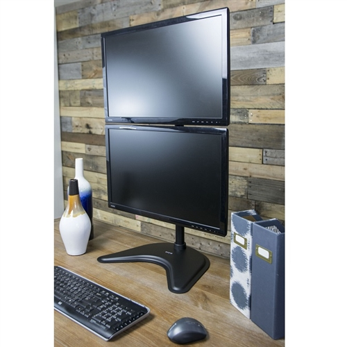 Super Pc Dual Monitor Vertical Desk Stand