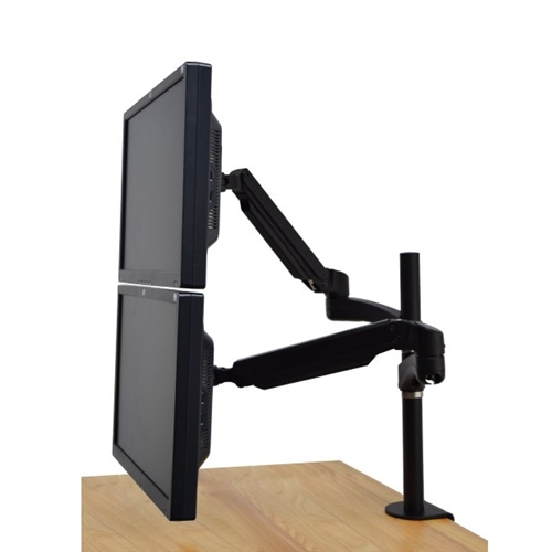 Super Pc Dual Monitor Gas Spring C Clamp Desk Mount