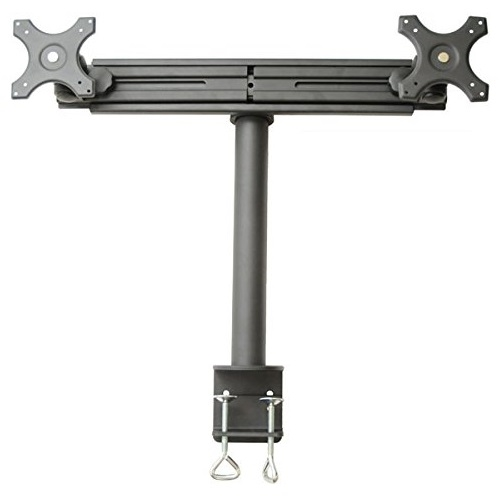 SUPER PC Dual Monitor CClamp Desk Mount with Sliding Rail