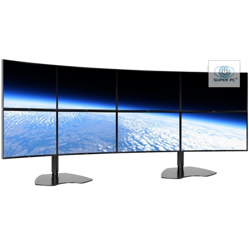 Super Pc Eight Monitor Array With 8 X Curved Syncmaster