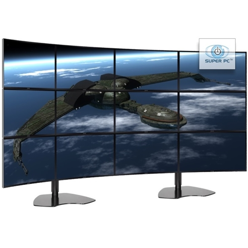 Super Pc Twelve Monitor Array With 12 X Curved Syncmaster Led Displays