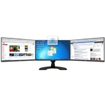 SUPER PC | Triple Monitor Array with Three DELL Ultra-Narrow Bezel LED Displays