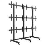 SUPER PC | 3x3 VideoWall Mount Floor-Stand for Large Screens | Mount 9 x Displays (40-50 inches)