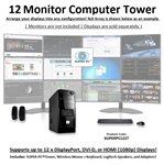 SUPER PC | Twelve Monitor Mid-Tower | 7th Gen Intel Core i7 Eight Core CPU
