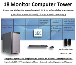 SUPER PC | 18 Monitor Workstation | 4th Gen Intel Core i7 Quadcore CPU
