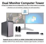 SUPER PC | Dual Display Workstation | New Gen Intel Core i7 Eight-Core CPU