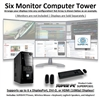 SUPER PC | Six Monitor Micro-Tower | 7th Gen Intel Core i7 Quadcore CPU