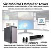 SUPER PC | Six Monitor Workstation | 7th Gen Intel Core i5 Quadcore CPU