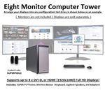 SUPER PC | Eight Monitor Workstation | 5th Gen Intel Core i7 Six Core CPU