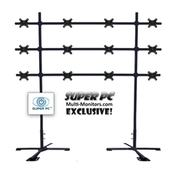 SUPER PC | 4 x 3 Monitor Mount | Portable Video Wall Floor