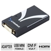 Sarbent USB-1612 Multi-Display USB 2.0 to DVI/VGA or HDMI Adapter - For PC and Mac, Link Up To 6 Displays, 1600x1200 / 1680x1050 Resolution