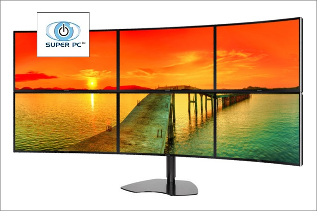 and a 169 aspect ratio per monitor this hex display setup also offers a 30001 contrast ratio 250 cdm2 brightness a 4 ms response time