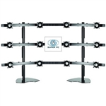 SUPER PC 4x3 Twelve LCD Multi-Monitor Stand | Supports up to 12 x 24 inch Displays