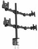 SUPER PC | Quad Monitor Articulating Desk Mount