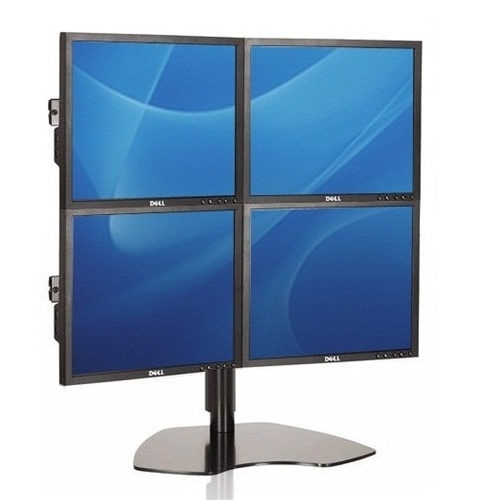 quad lcd multi monitor array dell monitors. Black Bedroom Furniture Sets. Home Design Ideas