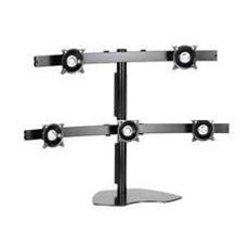 "SUPER PC | Five LCD Multi-Monitor Stand (Supports 20"" on bottom & 24"" on top)"