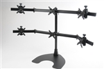 Advanced Hex (3 over 3) LCD Desk Stand | Supports up to 24 Inch Displays!