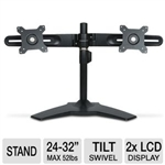 "Planar Large Format Dual Monitor Stand - Stand for 2 LCD displays ( Tilt & Swivel ) - screen size: 24"" - 32"" - mounting interface: 100 x 100 mm, 75 x 75 mm, 200 x 100 mm"