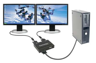 Matrox Dualhead2go Dual Monitor Adapter Vga Analog