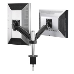 Chief KONTOUR Dynamic Column Clamp Single Arm Mount, Dual Monitor