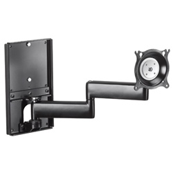 Chief KWDSK | Single Display | Dual Swivel Arm | Metal Stud Wall Mount