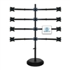 SUPER PC | 3x4 Twelve Monitor Floor Stand | SPC12MFS3X4