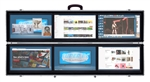 SUPER PC | 6 Monitors | 3x2 Display Array | Folds Up into a Portable Hard Case | USB 3.0 Powered