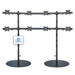 SUPER PC | 8 Monitor Floor Stand | SPC8MFS4X2