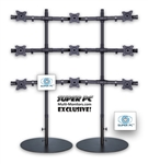 SUPER PC | 3x3 Nine Monitor Floor Stand | SPC9MFS3X3