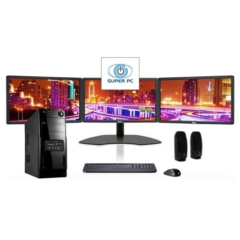 Super Pc Three Monitor Computer And Triple Led Display