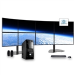 SUPER PC | Eight Display Computer and 8 x Curved Monitor Array | Complete Six Core i7 System