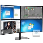 SUPER PC | Quad Monitor Array with Four Curved Syncmaster LED Displays