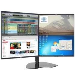 SUPER PC | Quad Monitor Array with Four DELL Professional LED Displays