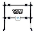 SUPER PC Quad Monitor Desk Stand 2x2 Dual Foot Base