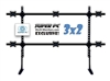 SUPER PC | 3x2 Six Monitor Desk Stand | Flat Rail (No Curvature) | Video Wall Style