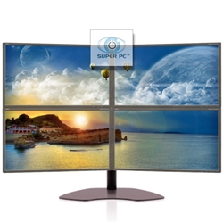 SUPER PC | Quad Monitor Array with Four Samsung Syncmaster LED Displays