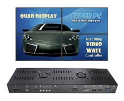 SUPER PC | 2x2+ HDMI Video Wall Controller | Combine Units to create Display Arrays up to 4x4!