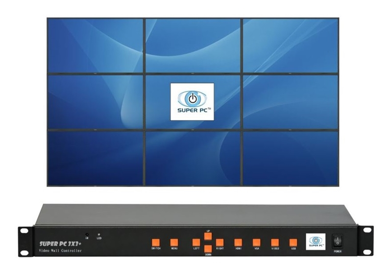 Super Pc 9 Screens Dynamic Video Wall Controller