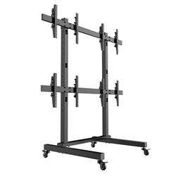 SUPER PC | 2x2 VideoWall Mount Floor-Stand for Large Screens | Mount 4 x Displays (40-55 inches)