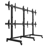 SUPER PC | 3x2 VideoWall Mount Floor-Stand for Large Screens | Mount 6 x Displays (40-50 inches)