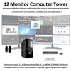 SUPER PC | Twelve Monitor Micro-Tower | 7th Gen Intel Core i7 Quadcore CPU