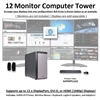 SUPER PC | Twelve Monitor Workstation | 5th Gen Intel Core i7 Six Core CPU